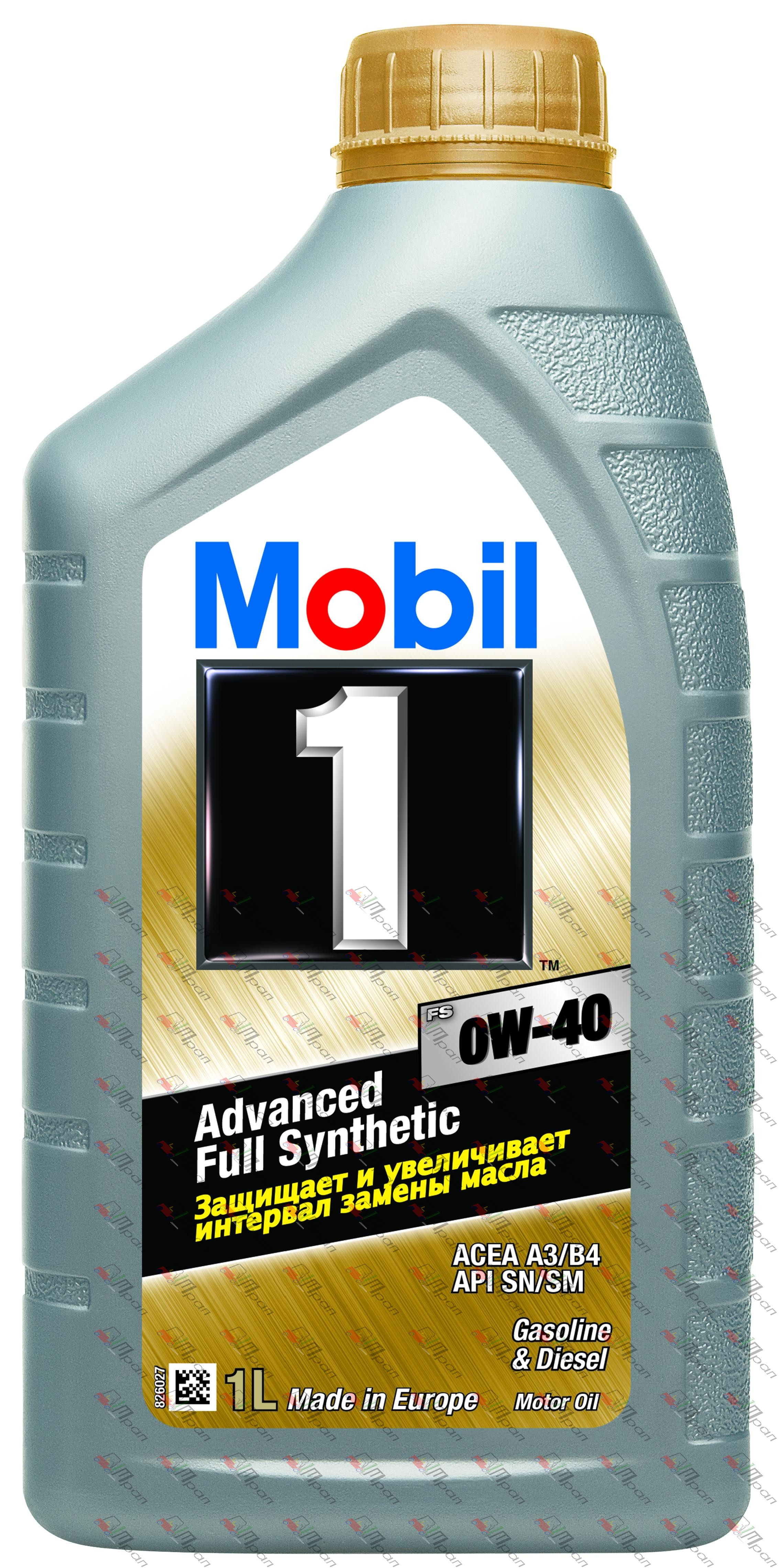 Mobil Масло моторное синтетич. Mobil 1 FS 0w40 1л