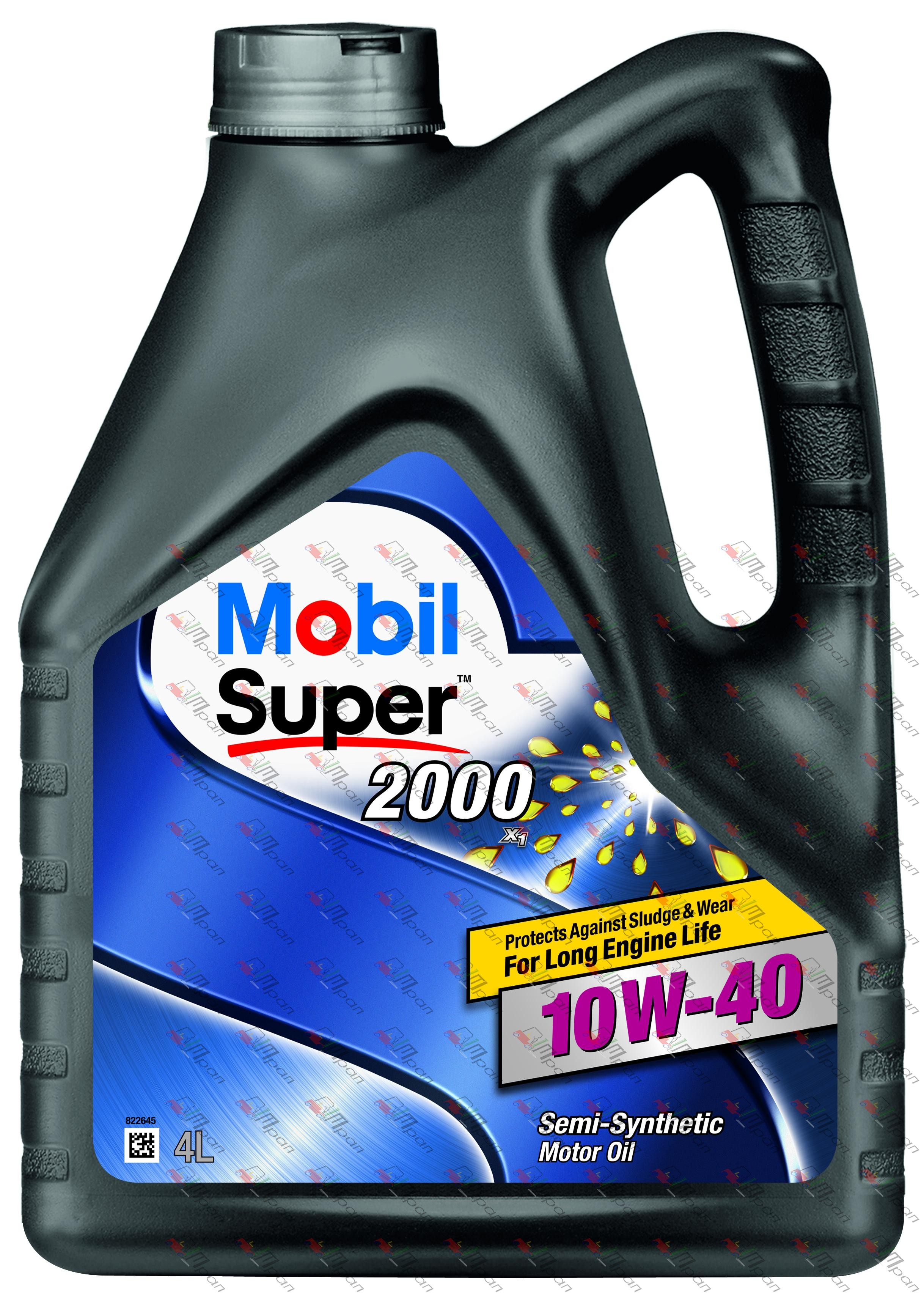 Mobil Масло моторное полусинтетич. Mobil Super 2000 10w40 4л
